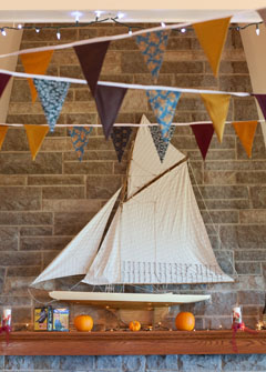 Bunting Boat Wedding